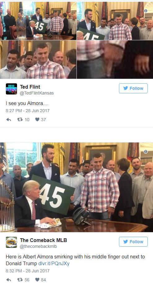 Albert Almora Donald Trump