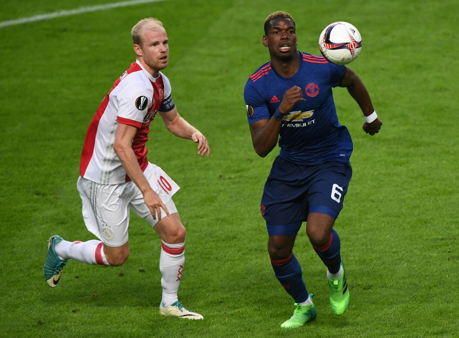 Davy Klaassen and Paul Pogba