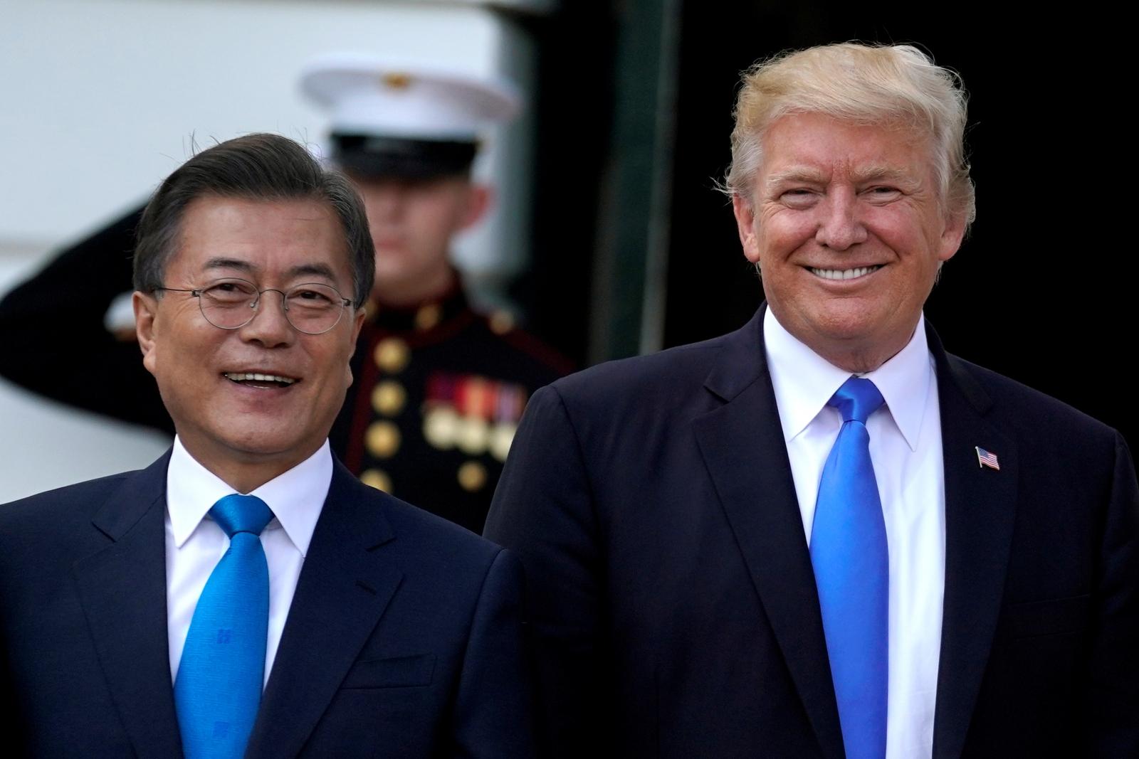 US President Donald Trump South Korean President Moon Jae-in