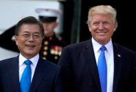 US President Donald Trump South Korean President Moon Jae-in