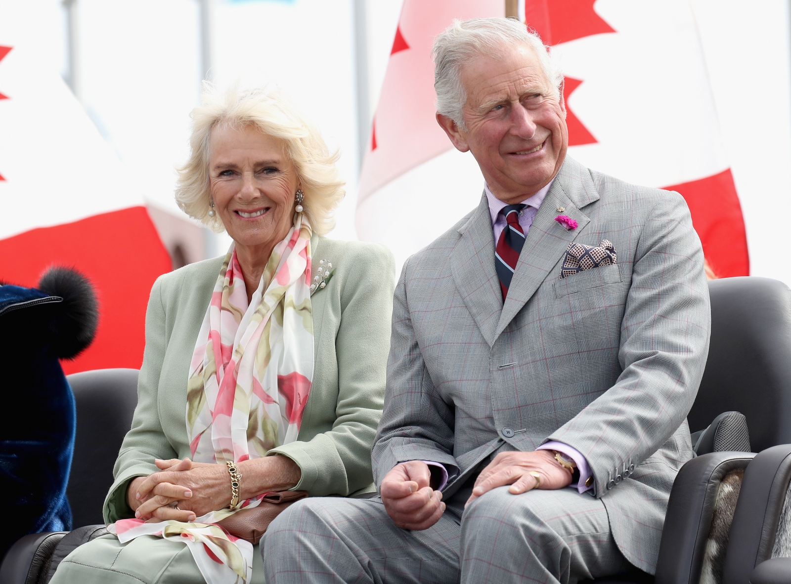 Camilla Parker Bowles >> Prince Charles and Camilla burst into laughter while listening to Inuit throat singing in Canada