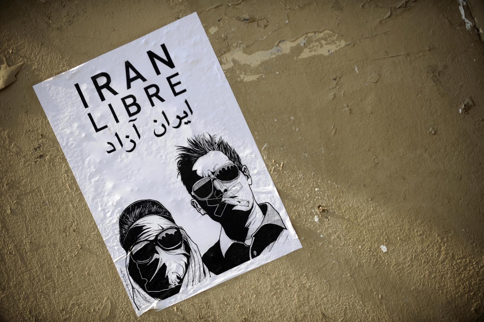 Free Iran poster