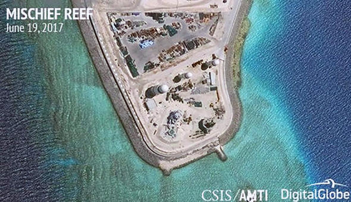 South Sea islands China Spratly