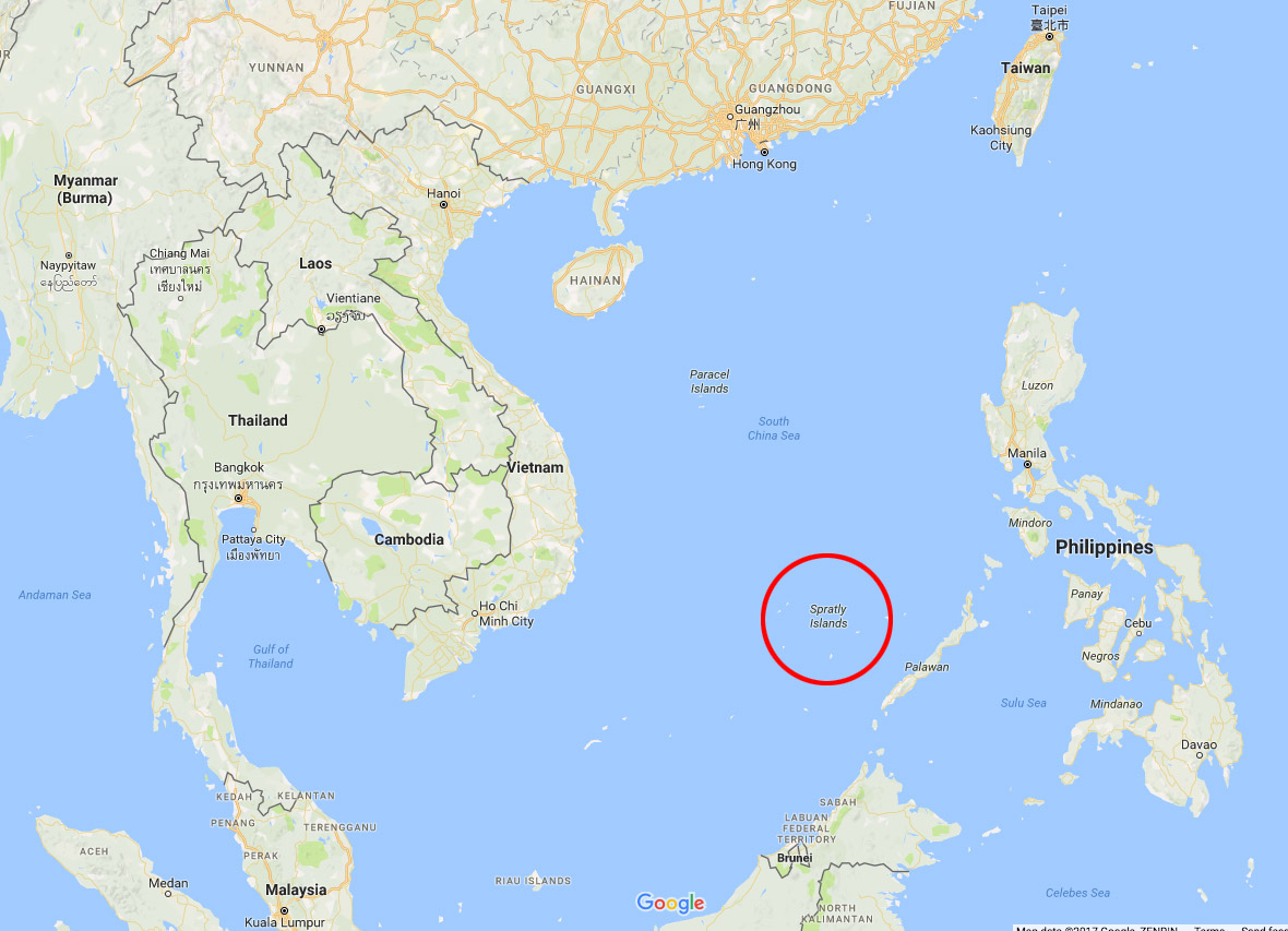 South China Sea Spratly islands