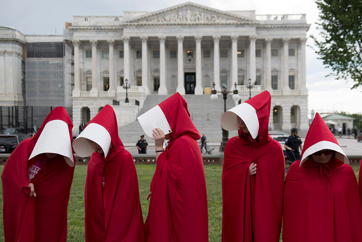 Handmaids Tale protesters Washington