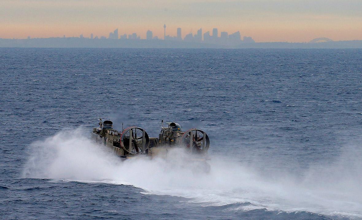 US Navy Landing Craft Air Cushion sydney