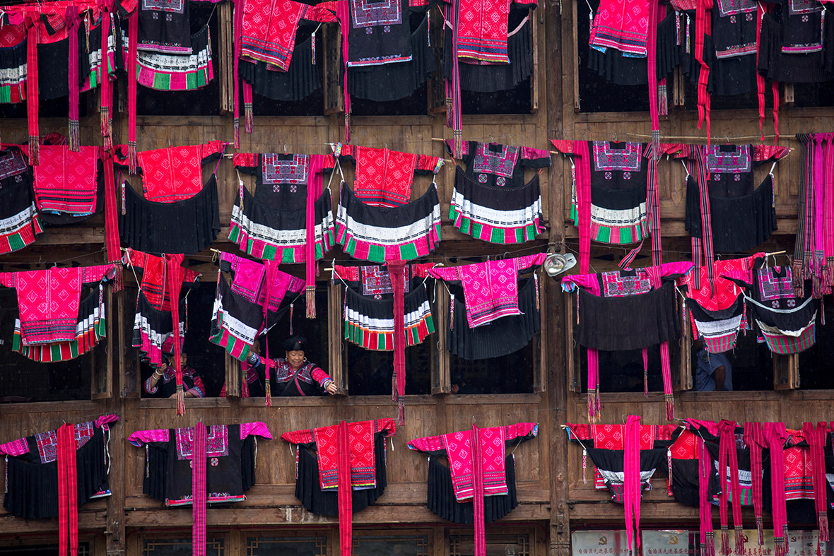 Clothes Drying festival in Longsheng county