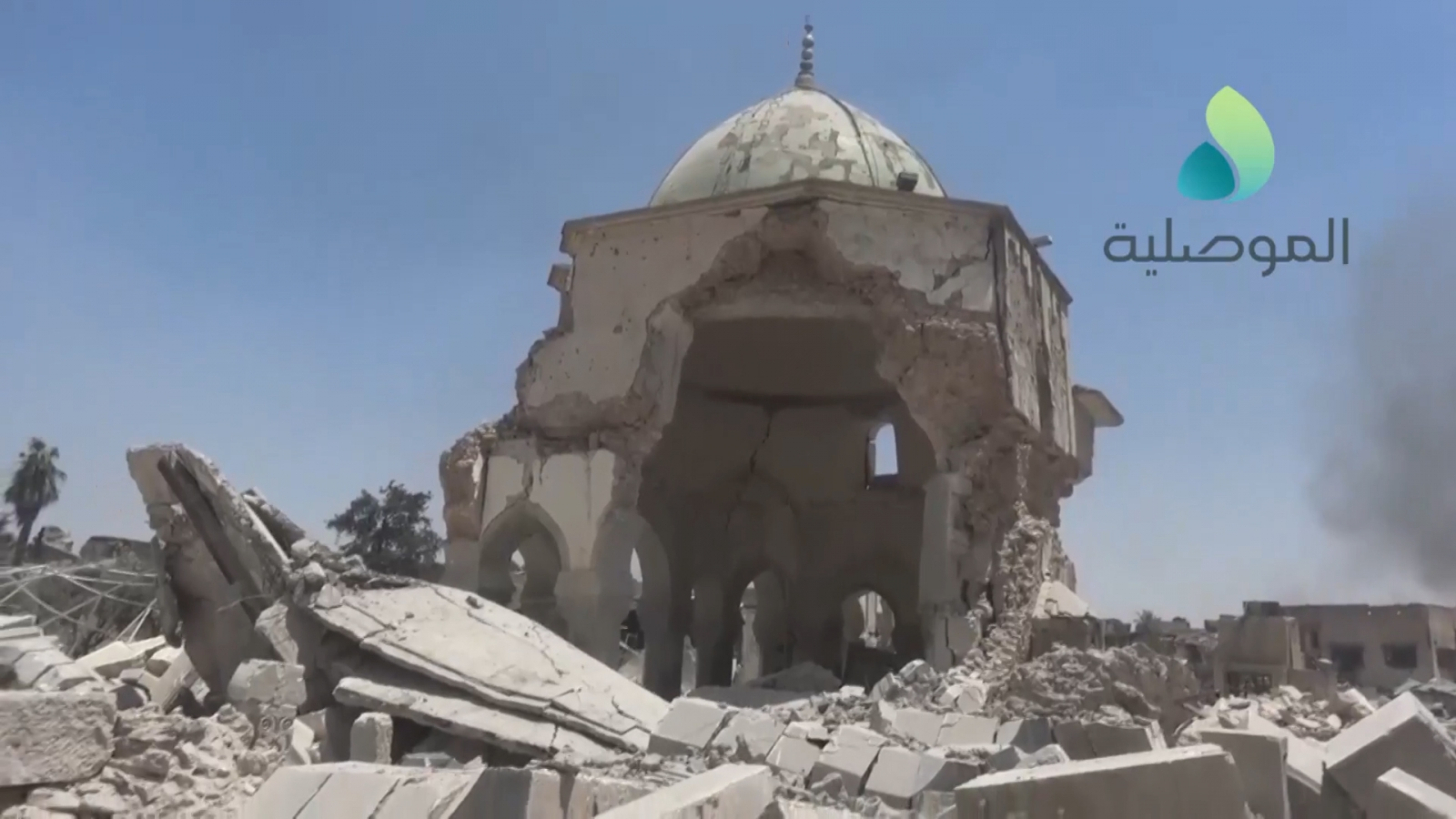 video-shows-destroyed-al-nuri-mosque-after-its-recapture-from-isis-in-mosul