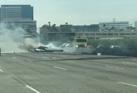 California Plane Crash 405 Freeway Orange County