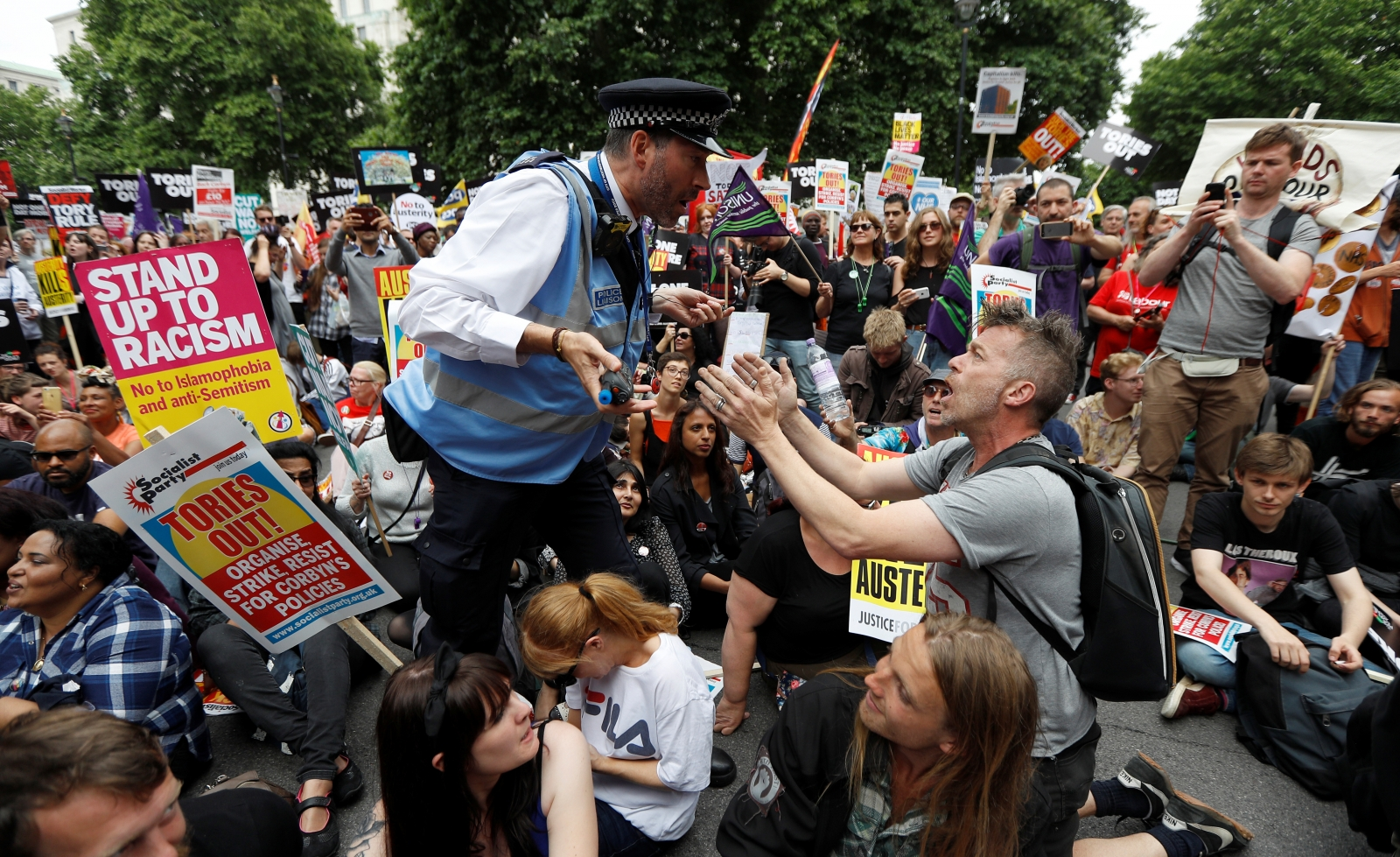 Anti-austerity rally London protests
