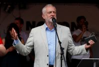 Anti-austerity rally London protests jeremy corbyn