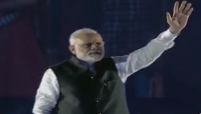 Darth Vader Theme Song Plays As Indian Prime Minister Narendra Modi Finishes Speech