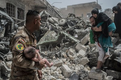 Mosul residents trapped Isis