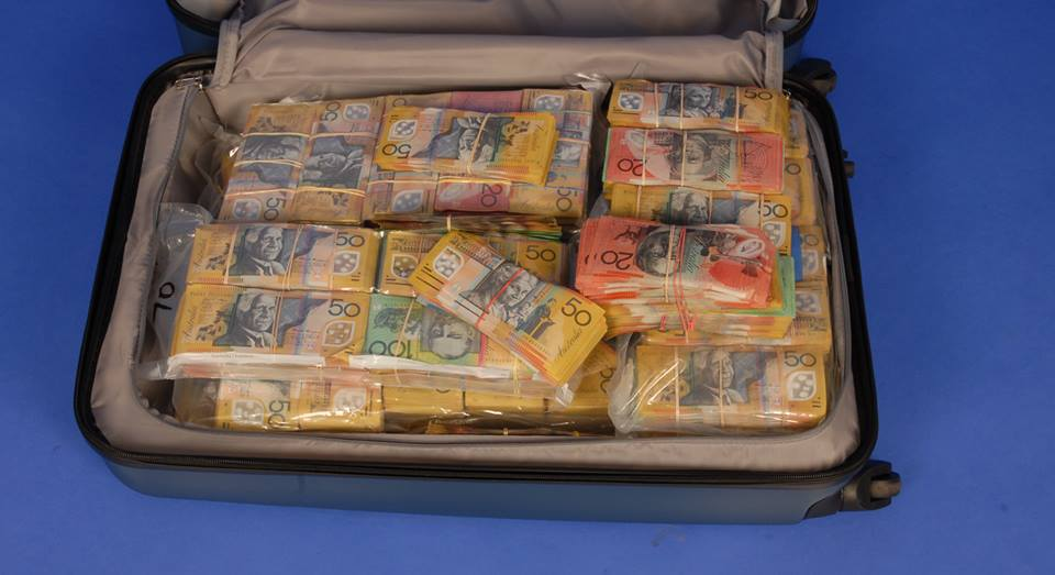 Suitcase full of cash found in Sydney