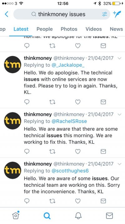 ThinkMoney complaints