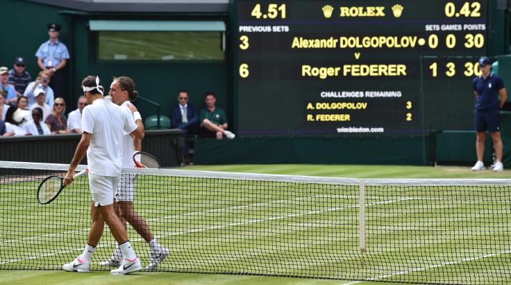 Roger Federer and Alexandr Dolgopolov