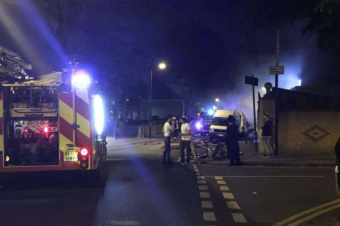 Fire crews at Jewish faith school blaze