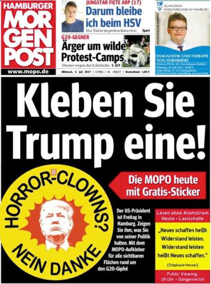 Morgenposten Trump Horror Clown