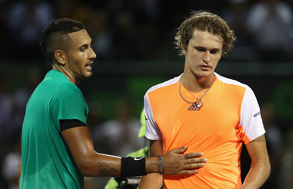 Nick Kyrgios and Alexander Zverev