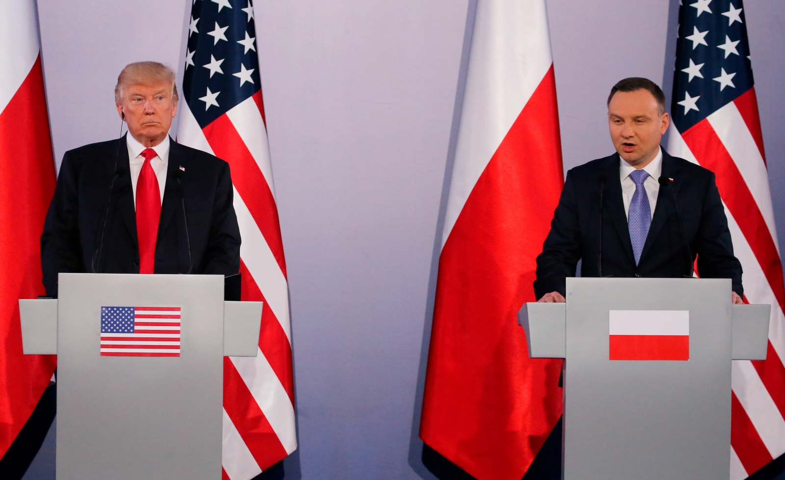 Trump in Poland for 16-hour stop
