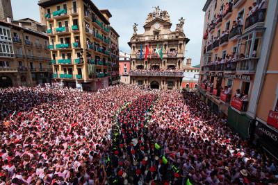 Pamplona 2017 San Fermin Chupinazo