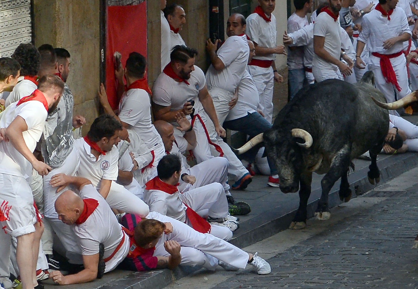 Pamplona 2017 running of the bulls
