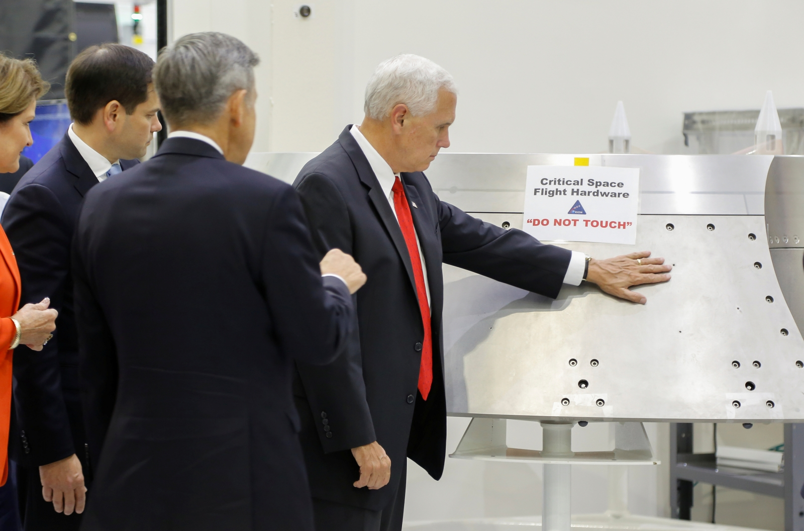 Mike Pence visited Nasa and touched the thing you mustn't ...