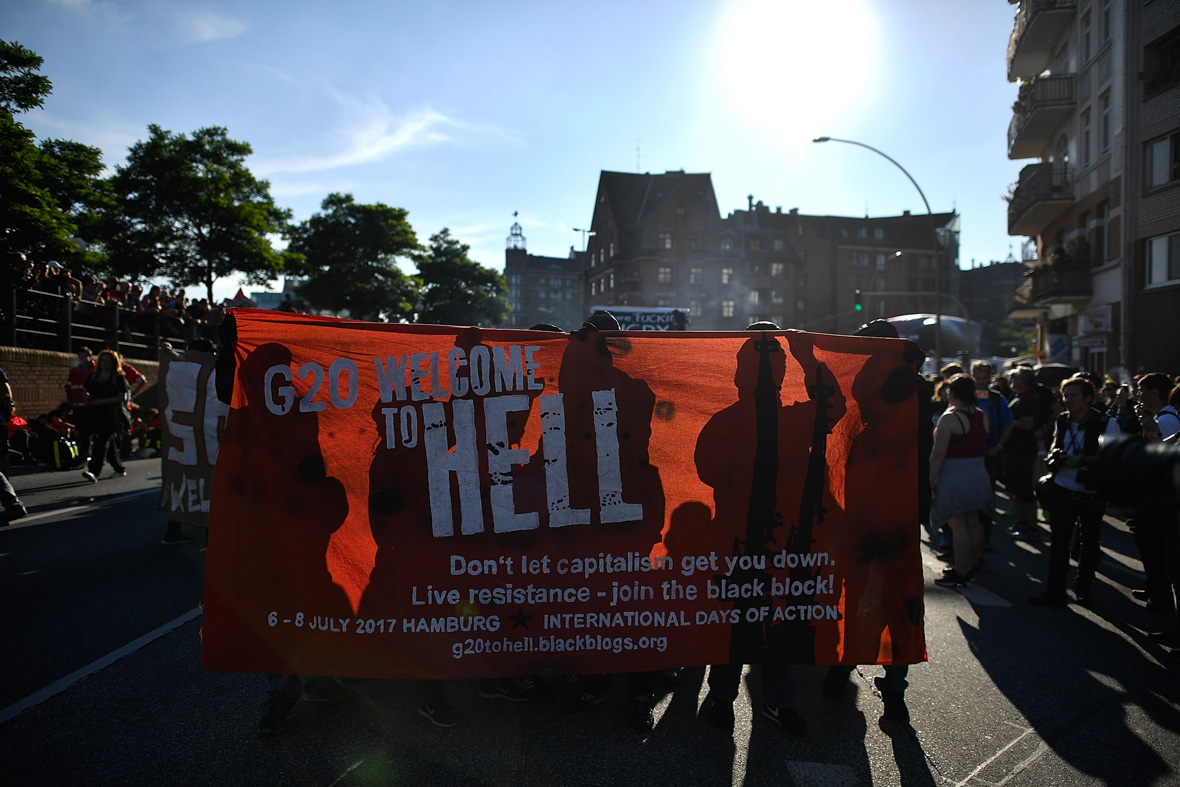 G20 protests Hamburg Welcome to Hell