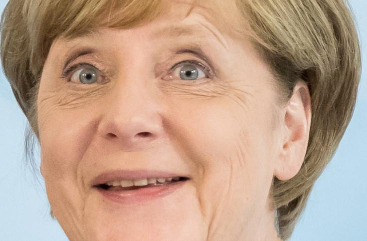 Angela Merkel's face close up