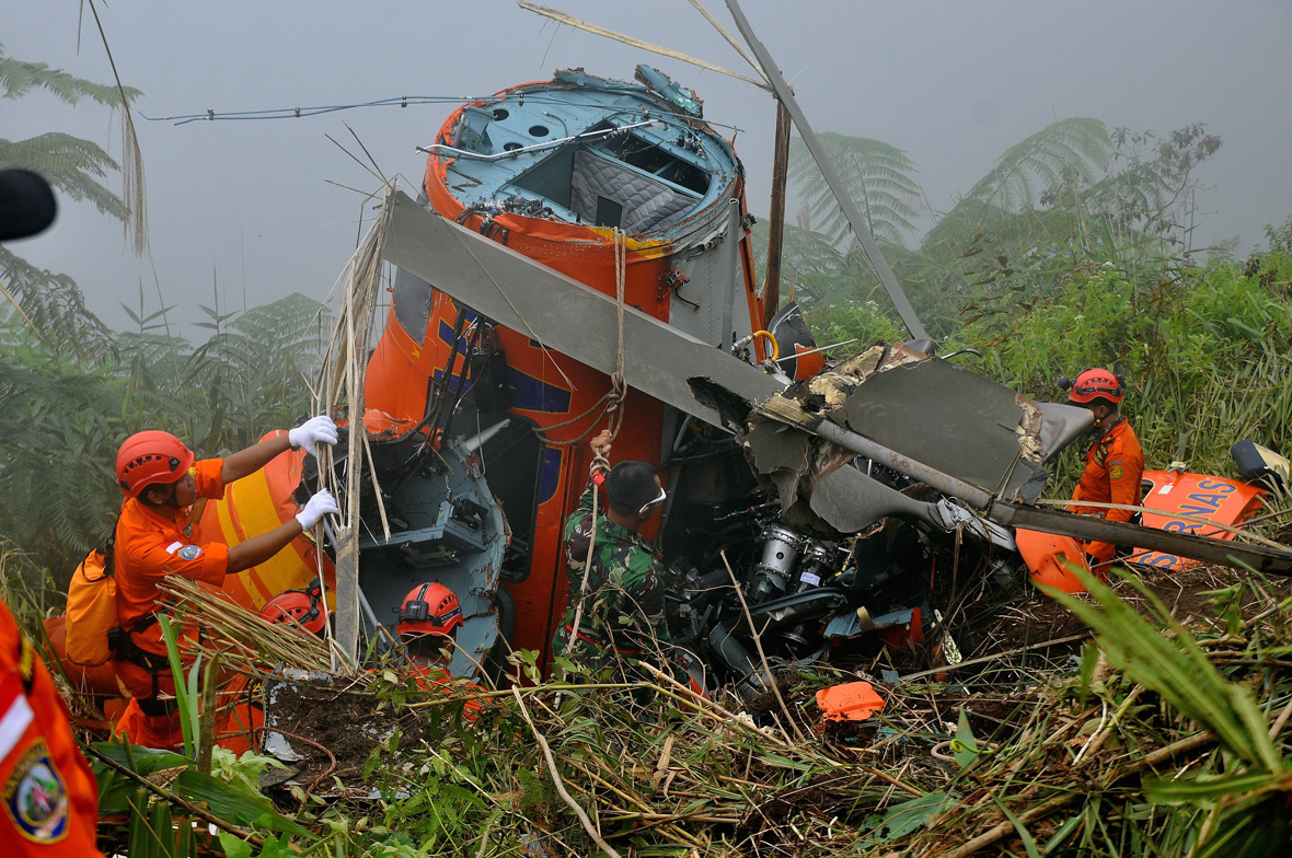 helicopter crash Indonesia
