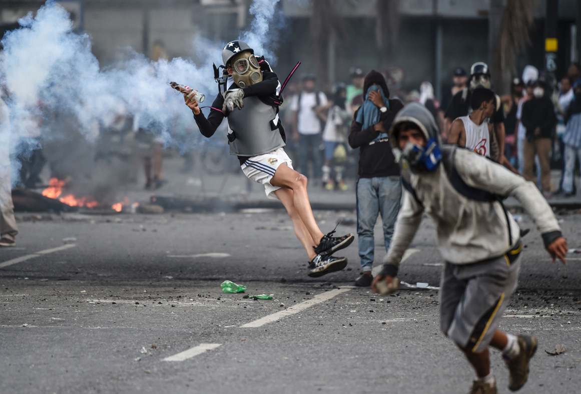 Venezuelan opposition demonstrators