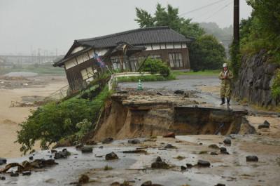 Asakura, Fukuoka prefecture Japan rain