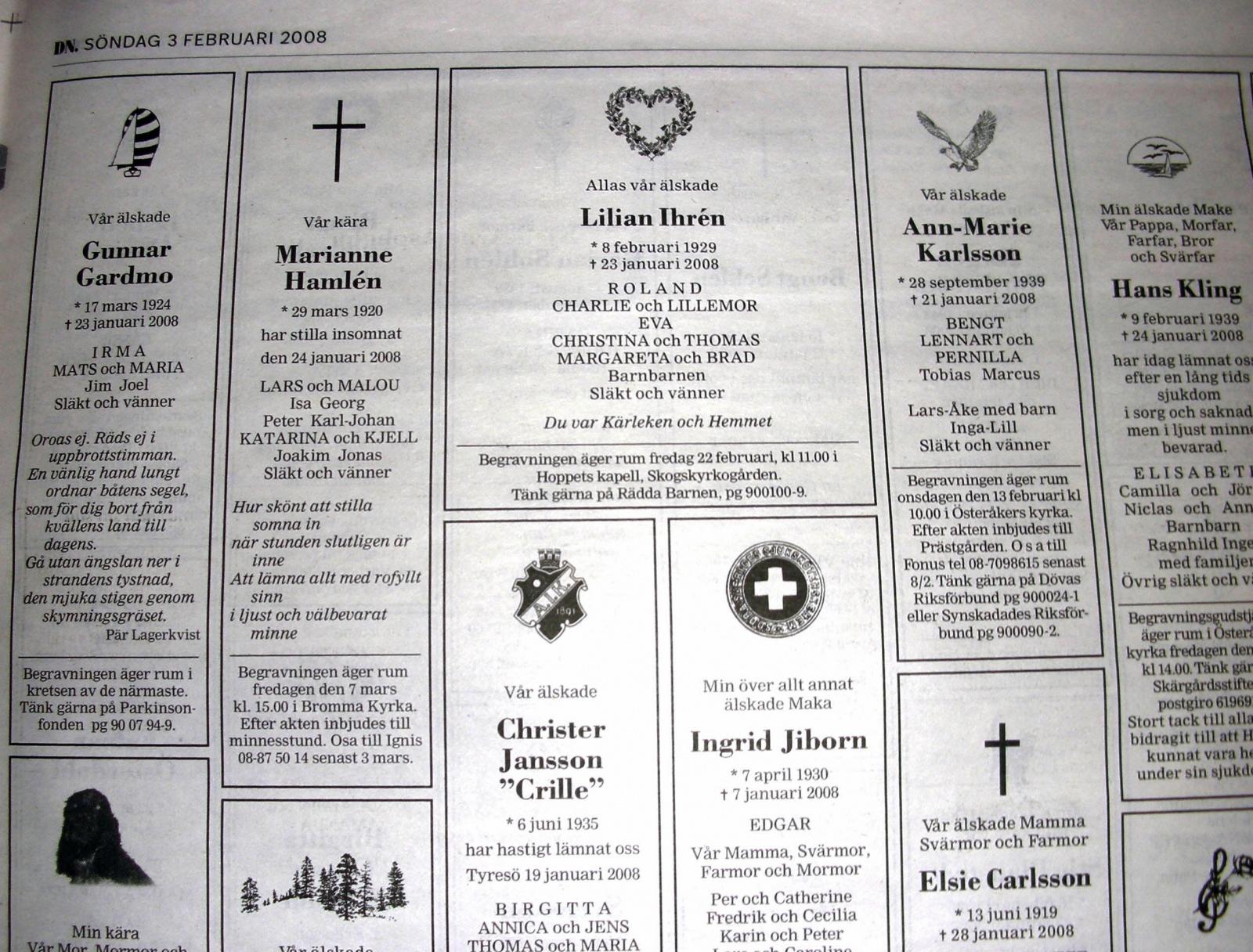 newspaper obituaries