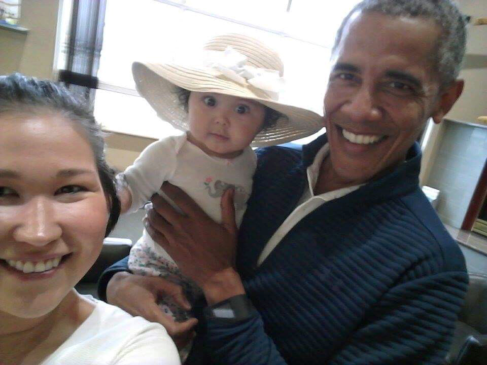 Obama and kid