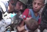 Iraqi Forces Free Children Trapped Under Rubble In Mosul's Old City