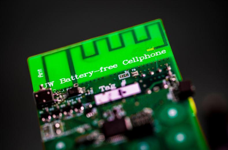 Battery-free phone