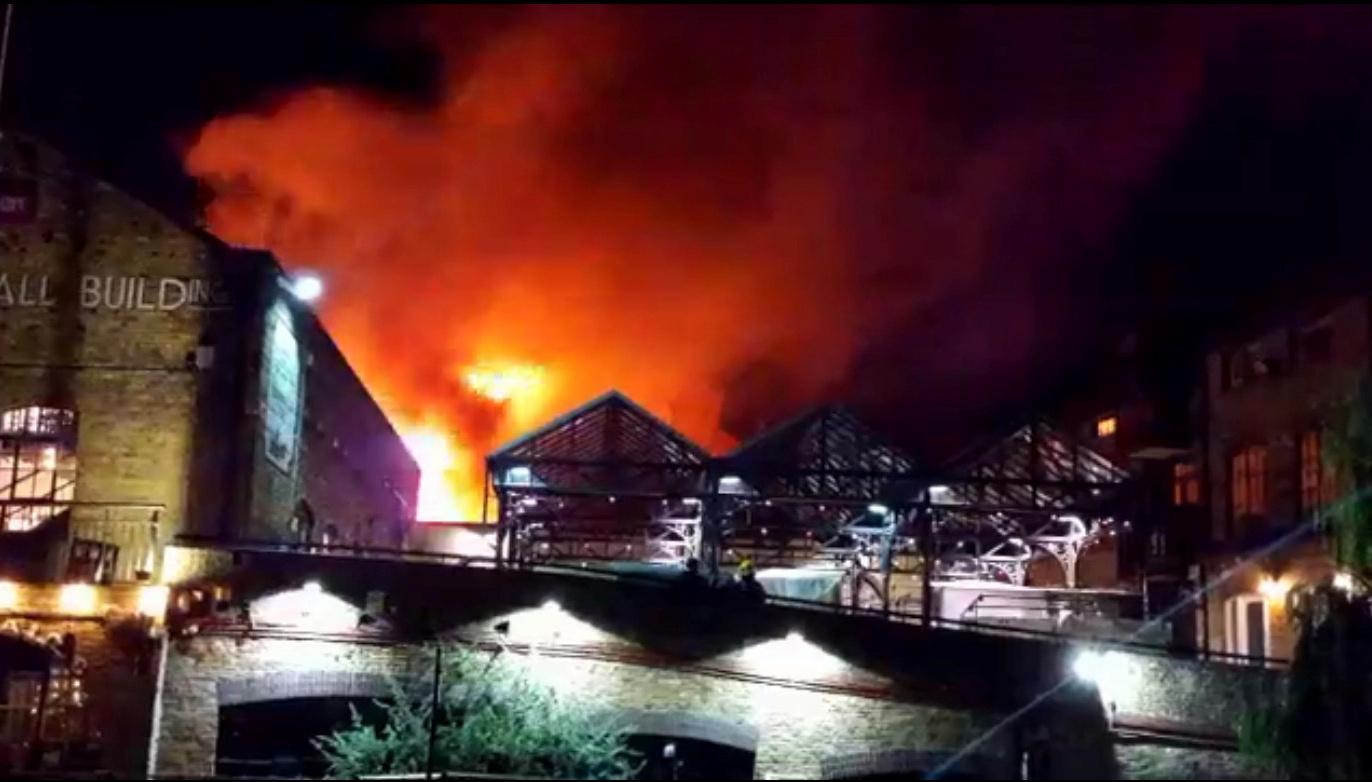 Camden Market Fire 2017