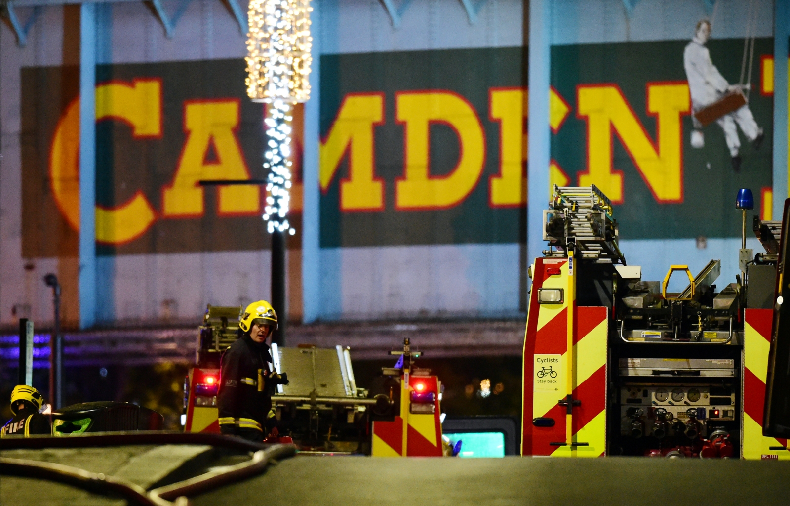 Massive fire breaks out at London's Camden Market