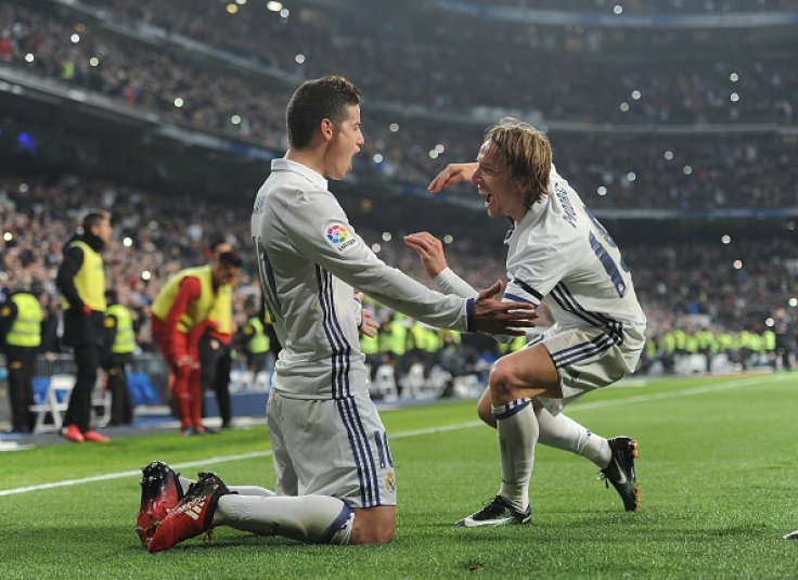 James Rodriguez and Luka Modric