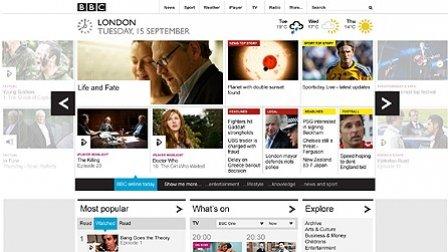 New BBC Homepage