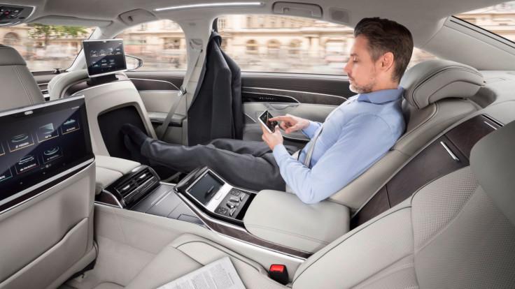 Audi A8 rear seat luxury