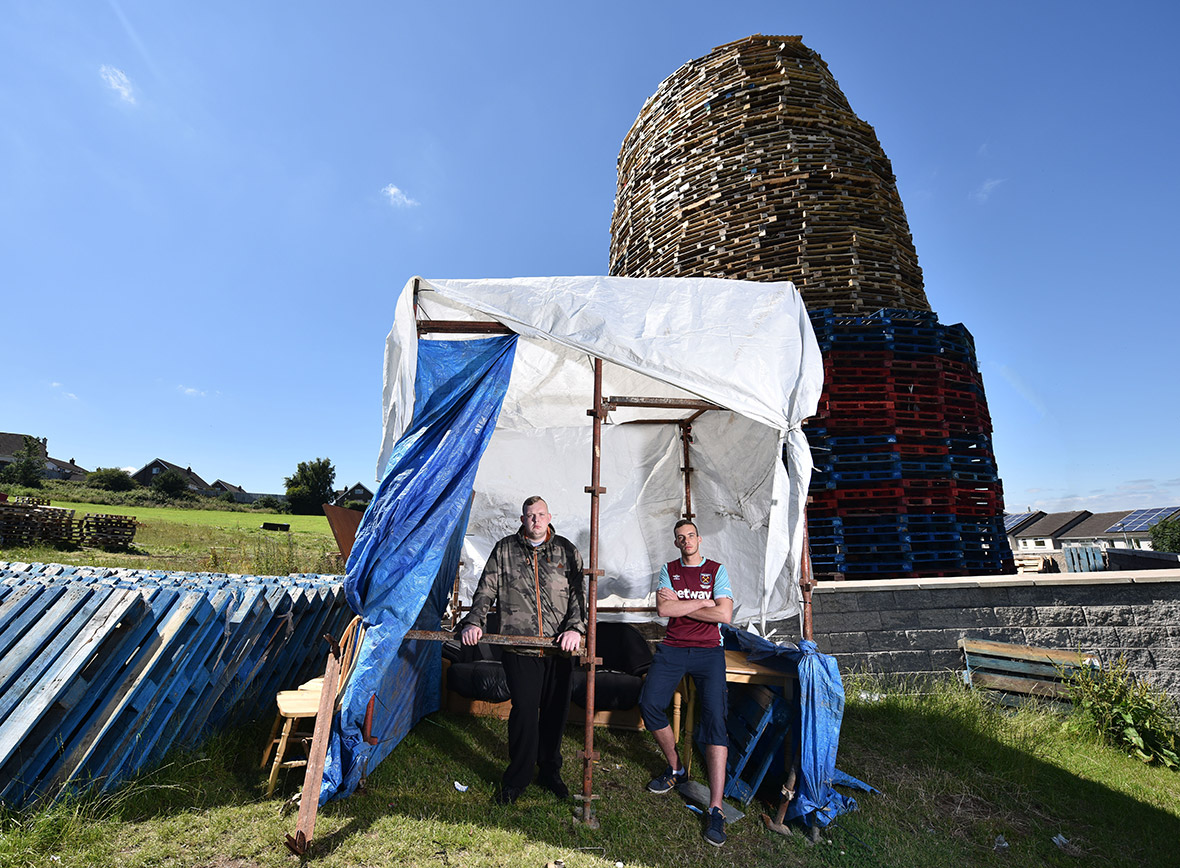 Northern Ireland Loyalist bonfires eleventh