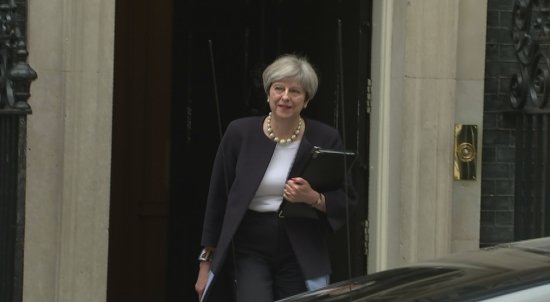 Theresa May Departs Number 10 for Gig Economy Speech