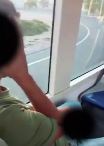 Man masturbating on bus Spain