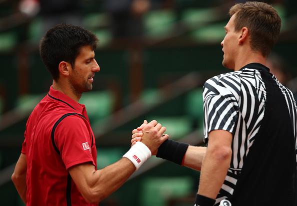 Novak Djokovic and Tomas Berdych