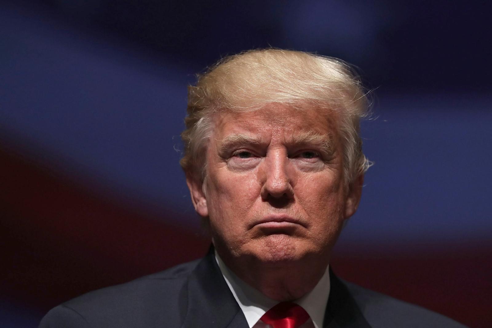 trump pictures unamused