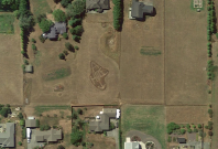 Google Maps A-Hole garden carving