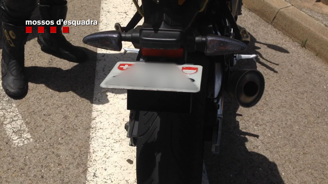 James Bond motorcycle license plate