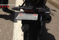 James Bond motorcycle license plate