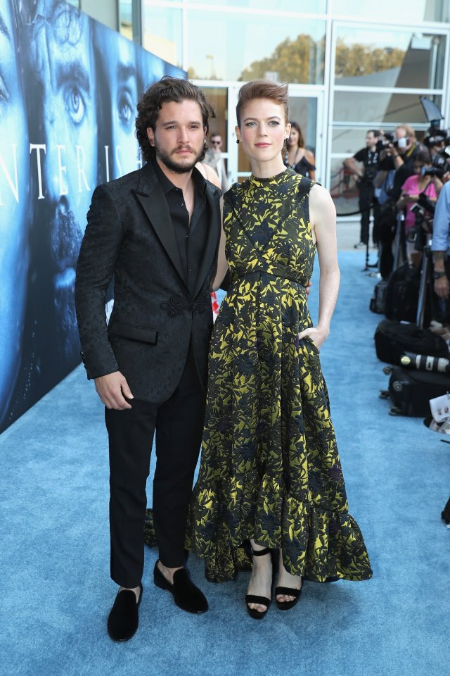 Kit Harington, Rose Leslie step out with newborn baby